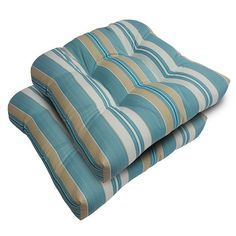 SONOMA Goods for Life™ 2-piece Suntastic 1000 Striped Indoor Outdoor Reversible ''u'' Chair Cushion Set,