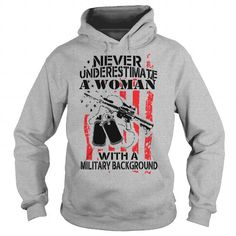 I Love Never Underestimate A Woman  veteran solider american military Tshirts