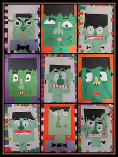 2nd grade mixed media project.  The kids will love this one!