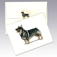 Swedish Valhund Note Cards - Resembling the Welsh Corgi, the Valhund ...