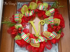 Christmas Deco Mesh Wreaths » The Sassy Momma