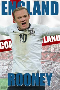 Wayne Rooney Come On England World Cup 2014 Soccer Poster - Starz