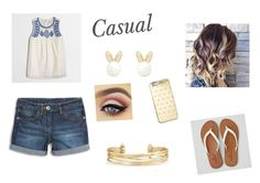 Casual by hannahgabby on Polyvore featuring J.Crew, American Eagle Outfitters, Stella & Dot, Lipsy and Michael Kors
