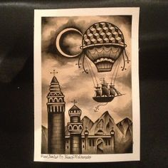 hot air balloon ship
