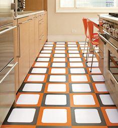 Vinyl Floor Finish In Orange Colors 2 Jpg