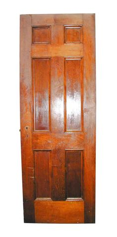 Medium wood tone birch six panel door from 1930s. Priced each.