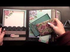 You are beautifull !!!! Scrapbook Mini Album - YouTube