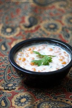 Boondi Raita~  4S   2C yogurt, 1/4c milk, 3/4c boondi, 1/2t roasted jeera powder or gharam masala, 1/4 mirch
