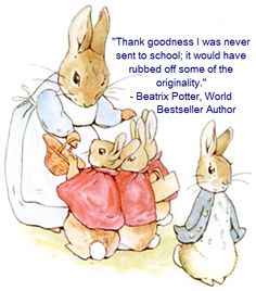 Peter the Rabbit, Beatrix Potter, Homeschool News, Jan und Bernice Zieba