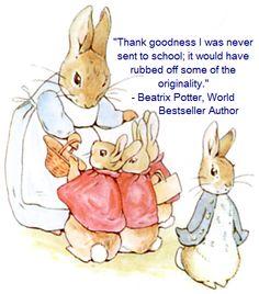 Peter the Rabbit, Beatrix Potter, Homeschool News, Jan und Bernice Zieba