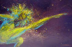 Leap - dance figurative painting,  original texture painting