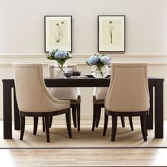 """<p>This beautiful, contemporary dining set features a simple, clean design that anchors your dining space with uncomplicated style.</p><div style=""""page-break-after: always"""