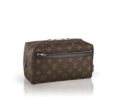 This generous Louis Vuitton Travel Pouch will easily hold any travel essentials and grooming tools for a spontaneous departure.