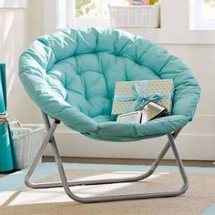 Hang-A-Round Chair, Navy at Pottery Barn Teen - Dorm Chairs - Teen Chairs