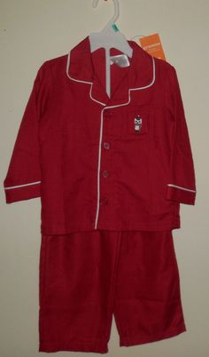Gymboree Baby Boy Sleepwear Red Holiday Pajamas Two-Piece Pajamas 18-24  #Gymboree #TwoPiece #Sleepwear