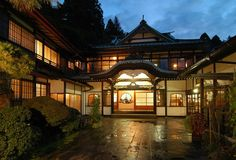 "Japanese traditional hotel ""MIKAWAYA"" in Hakone"