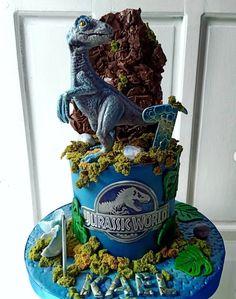 Dinasour Birthday, Dinosaur Birthday Cakes, Birthday Cakes For Men, Dinosaur Cake, Dinosaur Party, Birthday Party At Park, Boy Birthday Parties, Jurassic World Cake, Festa Jurassic Park