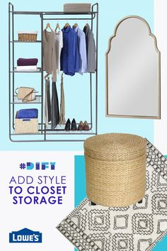 Refresh your closet with stylish décor and shelves, storage and bins at Lowe's.