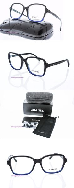 Eyeglass Frames: Chanel 3339 1558 Rx Eyeglasses Black Blue Fade Square Optical Frames 52Mm Nwt -> BUY IT NOW ONLY: $119.99 on eBay!