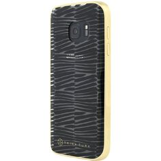 Trina Turk - Translucent Case with Metallic Bumper for Samsung Galaxy S7 - Clear/Descano Black, TTRK-SA-006-DBLC