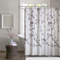 purple & gray/silver color combo...LOVE Pretty #Shower #Curtain with ...