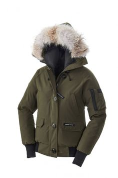 Canada Goose Chilliwack Bomber Jaket Women Military Green #winterwear #musthave
