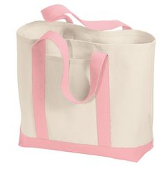 Heavy Cotton Large Size Sturdy Two-Tone Tote Bags - Wholesale Tote Bags, Large Tote, Breast Cancer Awareness, Cotton Tote Bags, Cotton Canvas, 5 D, Diaper Bag, Accessories, Shopping