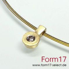 Gold 18K + Brillant 0,25 ct.  Cognac - Form17 SchmuckManufaktur
