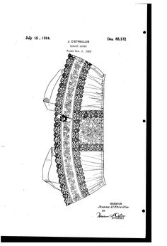 UNITED STATES PATENT OFFICE.  JEANNE DETREILLIS, OF NEW YORK, N. Y.  JEANNE DETREILLIS is one of the two Boué Soeurs. DESIGN FOR A CORSET COVER.  Application filed November 2, 1923.
