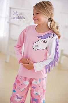 From CWDkids: Horse Mane Pajamas Little Girl Outfits, Kids Outfits Girls, Little Girl Fashion, Cute Little Girls, Toddler Fashion, Shirts For Girls, Kids Fashion, Horse Mane, Best Pajamas