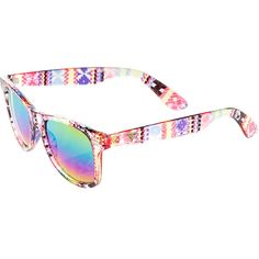 0ccdc550991 Katy Perry Aztec Print Wayfarer Sunglasses ( 18) ❤ liked on Polyvore  Wayfarer Sunglasses