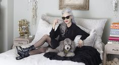 Photos by Ari Seth Cohen for Grey Magazine, Styling Valentina Ilardi MartinI had the pleasure of shooting Linda Rodin and her poodle Winky for Grey Magazine& first quarterly issue! Rodin, Dry Humping, Ari Seth Cohen, Green Shelves, Quirky Fashion, Advanced Style, Going Gray, Photo Instagram, Timeless Beauty