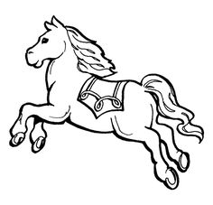 Dibujo para colorear de caballos (nº 12)