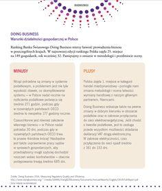 DOING BUSINESS Warunki działalności gospodarczej w Polsce