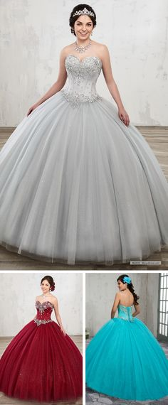 84d05698c19 Marys Bridal Marys Quinceanera Dresses dress with Style - Fabric -  Shimmering Tulle and Color - Aqua