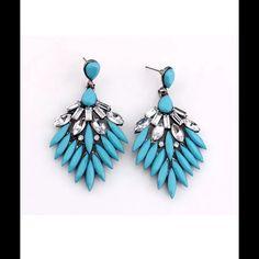 ❤️Blue Resin Drop Earrings❤️ New in packaging! Jewelry Earrings