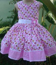 Vestido  de niña Girls Dresses Sewing, Frocks For Girls, Little Dresses, Little Girl Dresses, Girls Frock Design, Baby Dress Design, Baby Frocks Designs, Kids Frocks Design, Fashion Kids