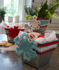 Wrapped in Crochet Holiday Tins