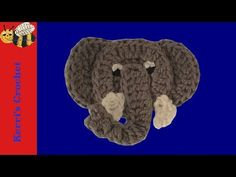 How to crochet an elephant application applique - YouTube