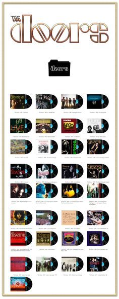 Album Art Icons: The Doors Discography Folders (ICO & PNG)
