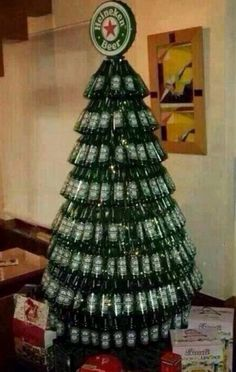 wine bottle christmas tree these are the most creative. Black Bedroom Furniture Sets. Home Design Ideas