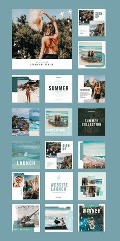 $25 · An adventurer's dream! The Travel Social Feed Template is a sultry, exotic coastal-themed set of 30 pre-branded custom designs, great for travel bloggers, swimwear designers, and more. Instagram Post Template, Adventurer, Social Platform, Coastal, Exotic, Custom Design, Designers, Templates, Instagram Posts