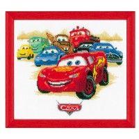 Kit ricamo Cars . Kit da ricamo completo di fili, schema, stoffa e ago. E' dedicato al noto cartoon Disney Cars e si presta come elemento di arredo nella camera dei bimbi. Disponibili anche altri modelli coordinati sia nei cuscini che nei metri misura bimbi.   http://www.lamercerissima.it/kit-ricamo-cars.html  €39,90