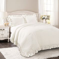 Home 바느질 In 2019 Ruffle Comforter Bedding Master