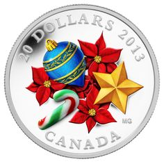 Silver Coins-Candy Cane With Venetian Glass 1 oz Silver Coin Fine Canada 2013 Canadian Coins, Venetian Glass, Murano Glass, Gold And Silver Coins, Mint Coins, Commemorative Coins, Glass Candy, World Coins, Gifts