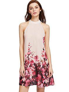 Floerns Women's Summer Chiffon Sleeveless Party Dress X-S...