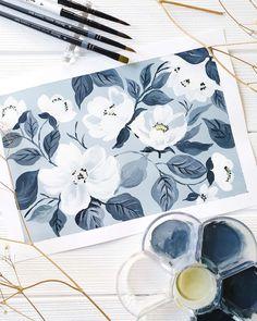 Watercolor Journal, Watercolor Art, Salt Painting, Jackson's Art, Watercolour Tutorials, Art Journal Inspiration, Surface Pattern Design, Botanical Art, Doodle Art