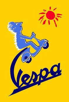 Vespa classic sign
