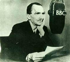 Speaking on BBC Radio, England 1946