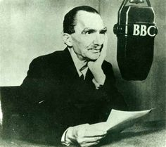 Speaking on BBC Radio, England 1946